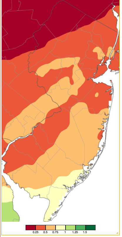 Rainfall from approximately 7 AM on April 24th to 7 AM on April 25th based on a PRISM analysis generated using NWS Cooperative and CoCoRaHS observations