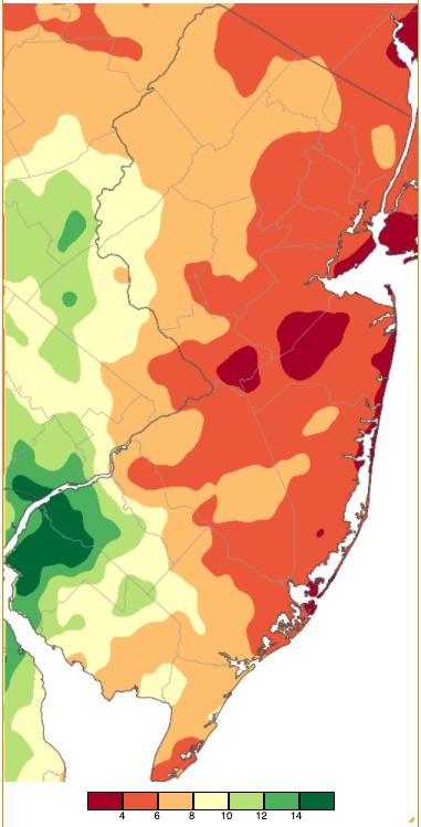 August 2020 PRISM precipitation estimate map