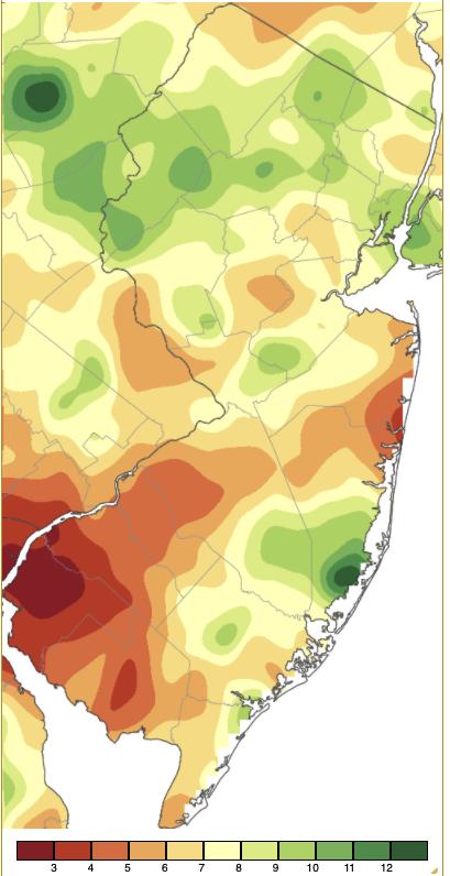 August 2021 precipitation across New Jersey