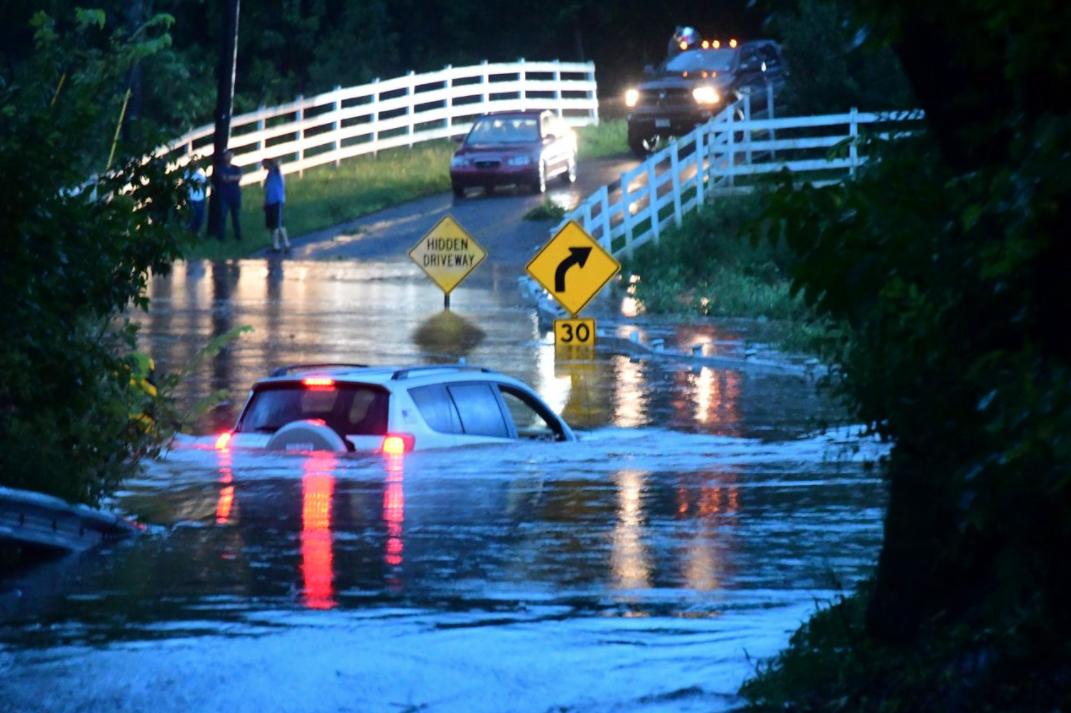Flash flooding in Raritan Township on July 17