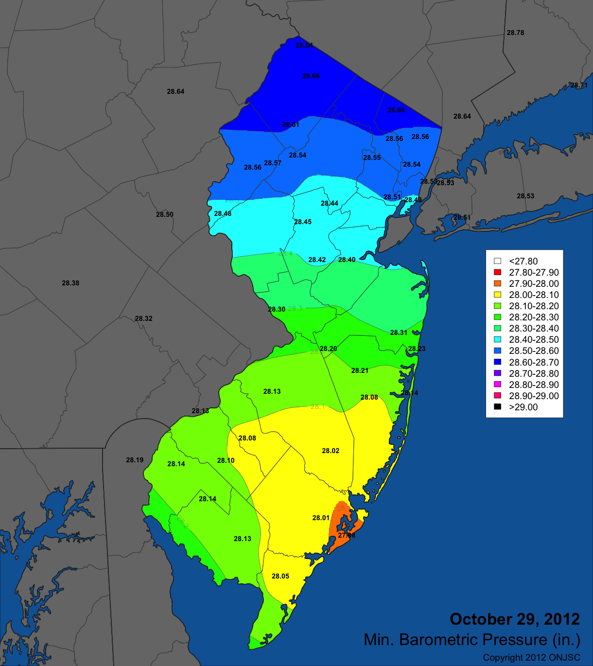 Office Of The New Jersey State Climatologist - Maps of nj